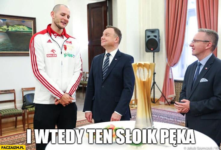 I wtedy ten słoik pęka Bartosz Kurek z Andrzejem Dudą