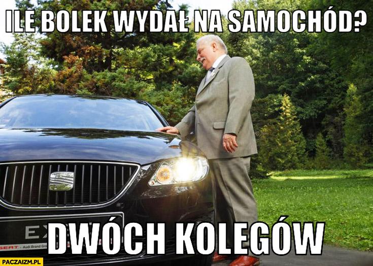 Ile Bolek wydał na samochód? Dwóch kolegów Lech Wałęsa