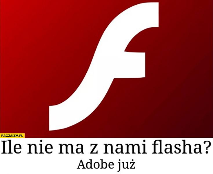 Ile nie ma z nami flasha? Adobe już flash