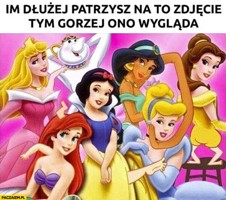 Im dłużej patrzysz na to zdjęcie tym gorzej ono wygląda księżniczki Disneya