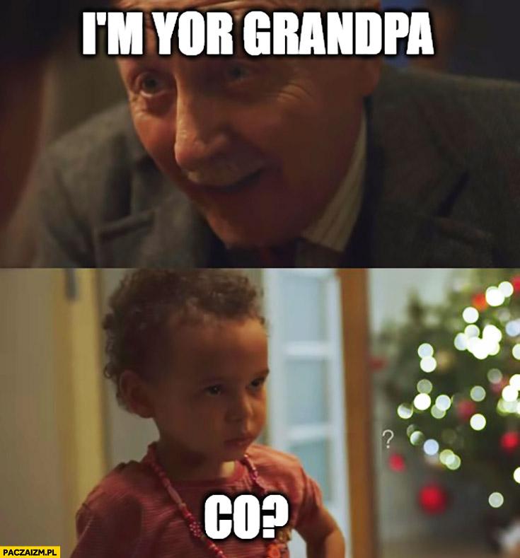 I'm your grandpa. Co? Dziecko nie rozumie reklama allegro