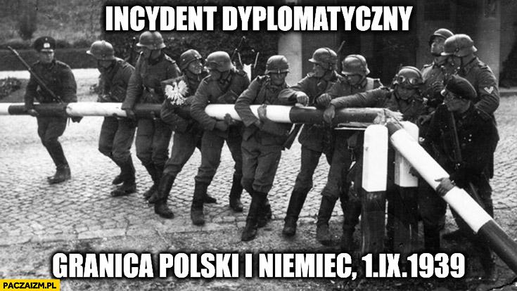 Incydent dyplomatyczny granica Polski i Niemiec 1 września 1939 Druga Wojna Światowa