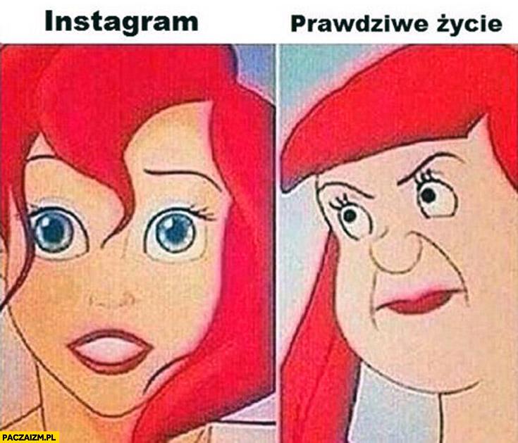 Instagram prawdziwe życie Syrenka Ariel Arielka