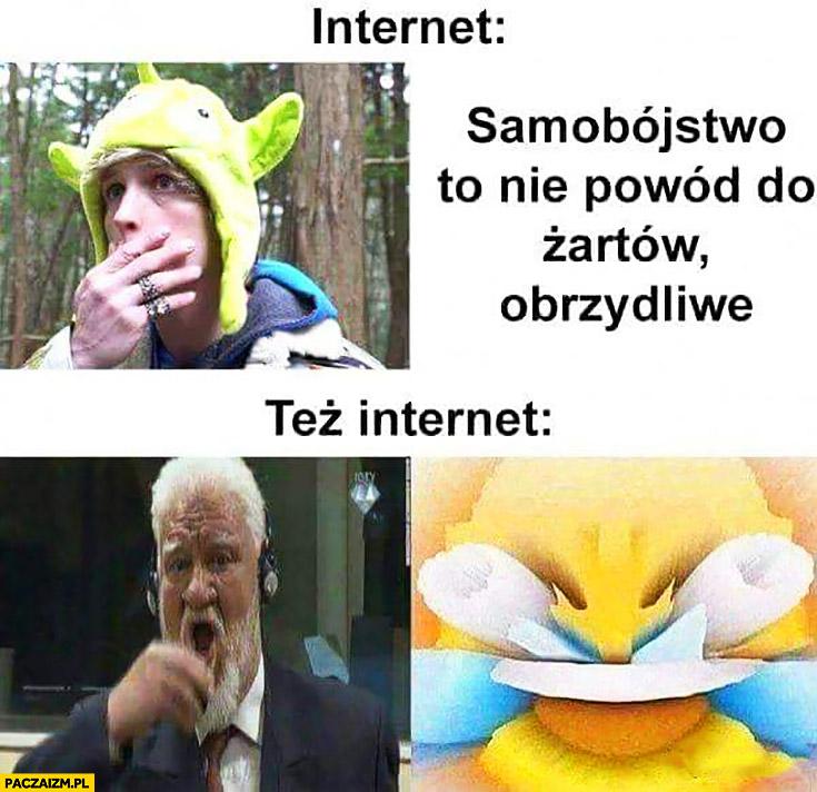 Internet samobójstwo to nie powód żartów Lil Peep, też internet Slobodan Praljak