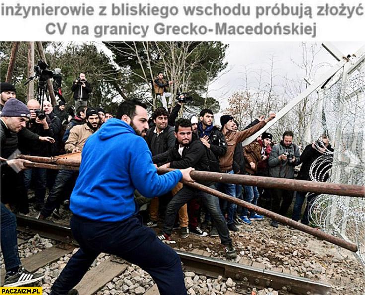 Inżynierowie z bliskiego wschodu próbują złożyć CV na granicy Grecko-Macedońskiej