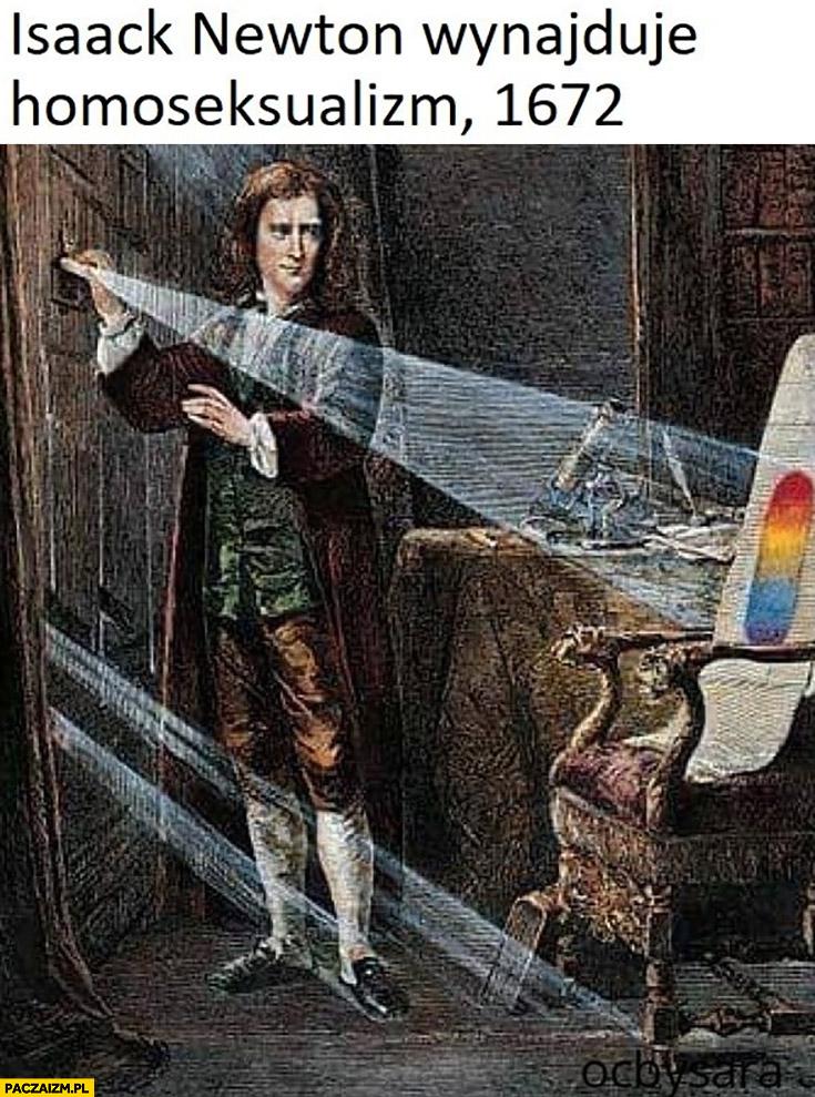 Isaack Newton wynajduje homoseksualizm, 1672 tęcza