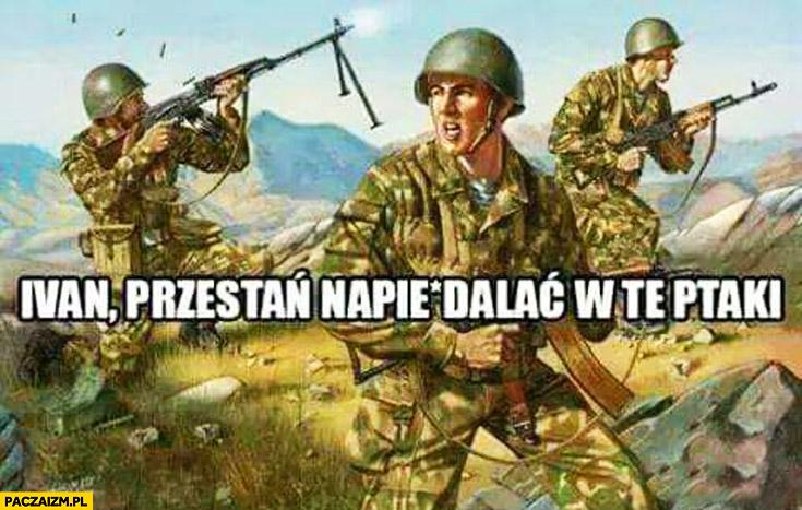 Ivan przestań strzelać w te ptaki wojna
