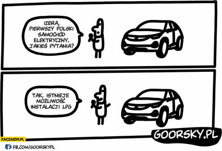 Izera pierwszy polski samochód elektryczny, tak istnieje możliwość instalacji LPG goorsky