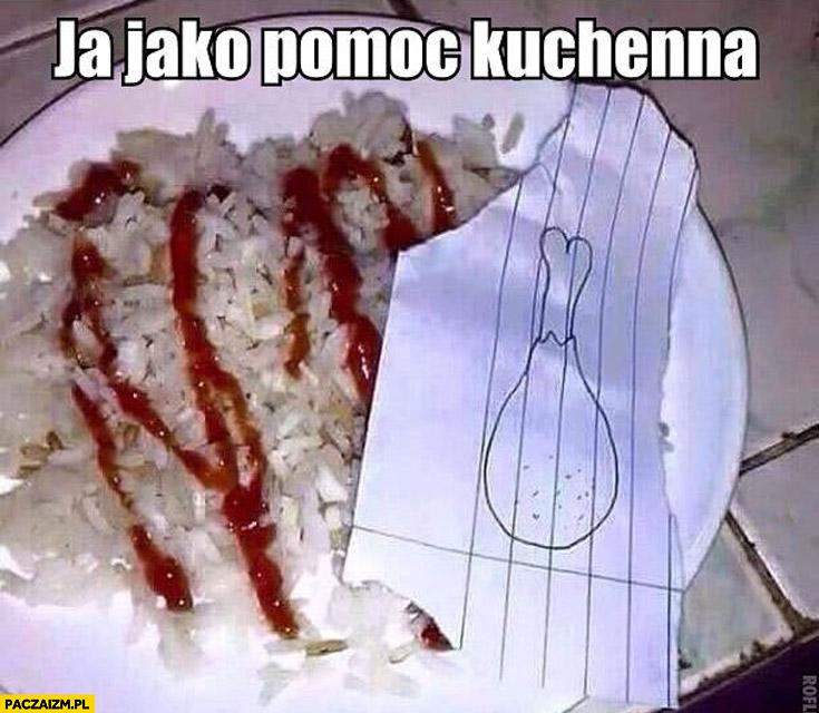 Ja jako pomoc kuchenna rysunkowe udko kurczaka