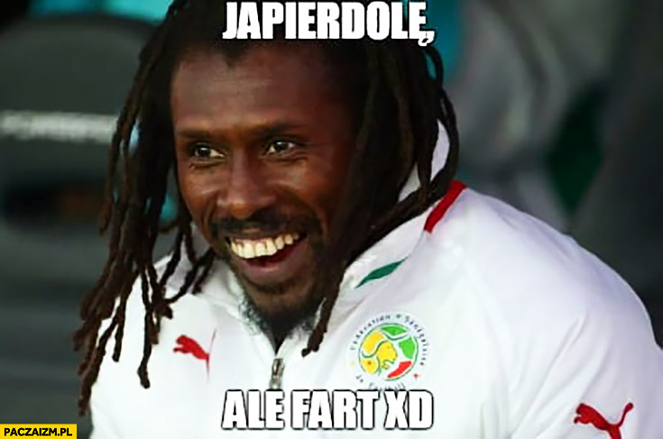 Ja pierdziele ale fart trener Senegalu Aliou Cisse mecz z polska na mundialu