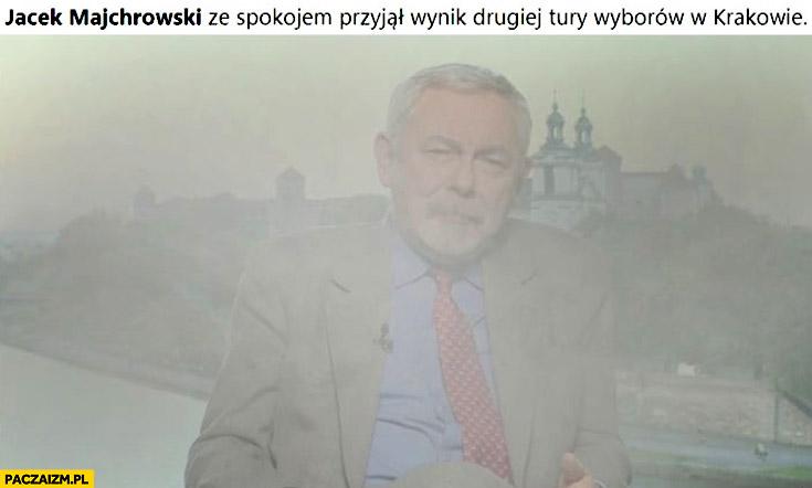 Jacek Majchrowski ze spokojem przyjął wynik drugiej tury wyborów w Krakowie w smogu