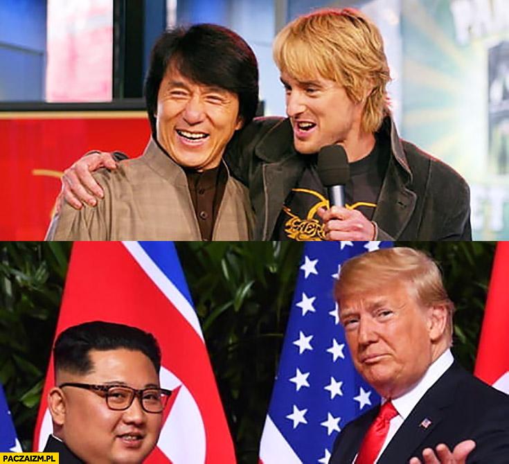 Jackie Chan, Owen Wilson kiedyś teraz Kim Jong Un, Donald Trump
