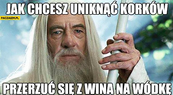 Jak chcesz uniknąć korków przerzuć się z wina na wódkę Gandalf