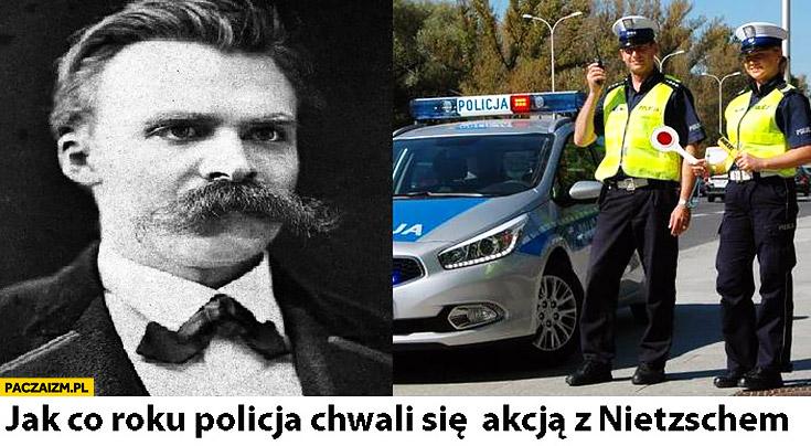 Jak co roku policja chwali się akcja z Nietzschem akcja znicz
