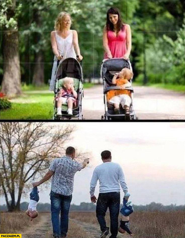 Jak matki chodzą z dziećmi jak ojcowie chodzą z dziećmi