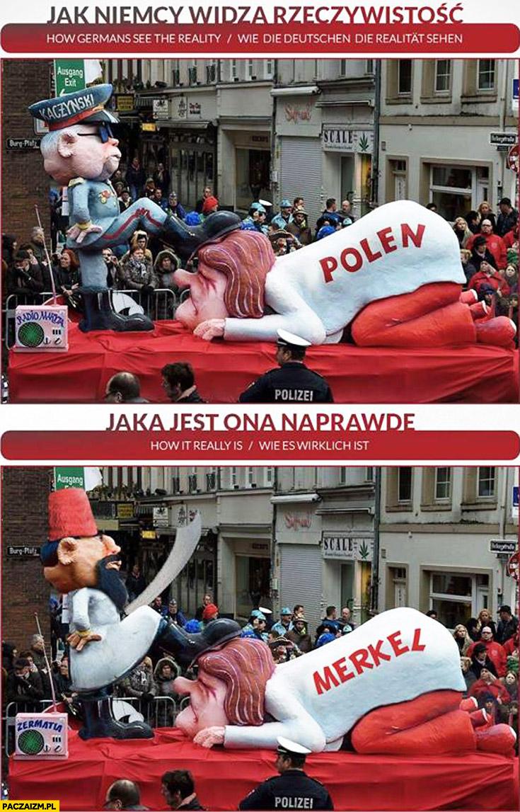 Jak Niemcy widzą rzeczywistość: Kaczyński Polska, jak jest naprawdę: arab muslim Merkel