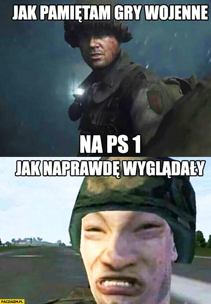 Jak pamiętam gry wojenne na PS1 vs jak naprawdę wyglądały PlayStation
