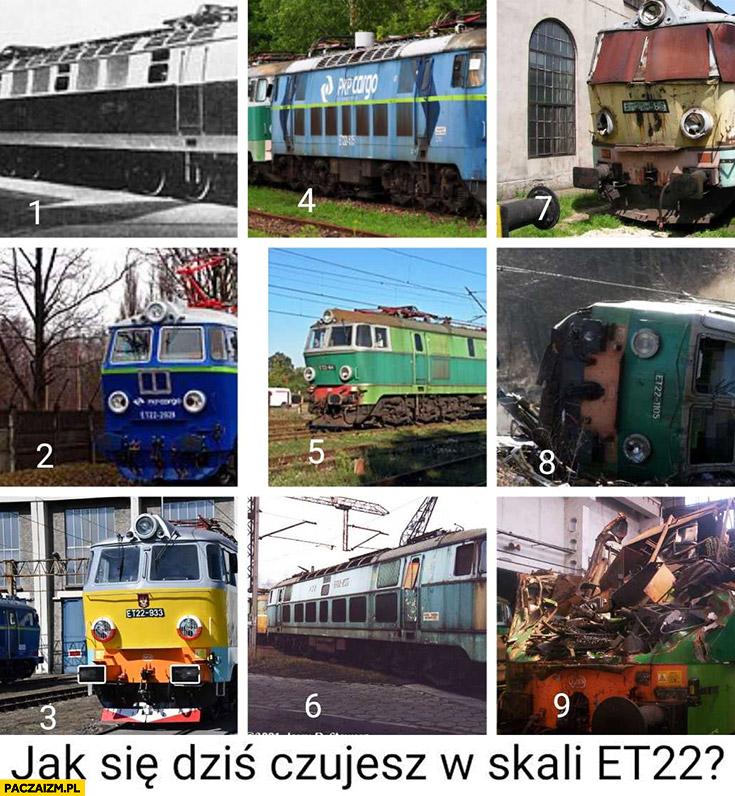 Jak się dziś czujesz w skali pociągu lokomotywy ET22 numery od 1 do 9