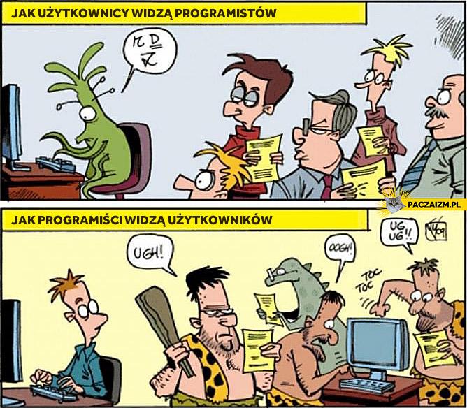 Jak użytkownicy widzą programistów