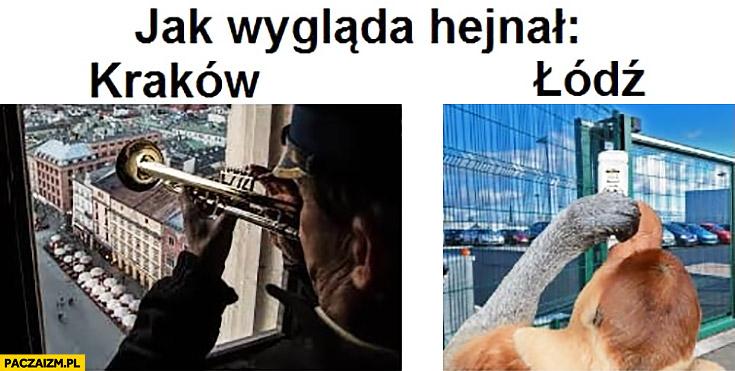 Jak wygląda hejnał Kraków Łódź picie na hejnał