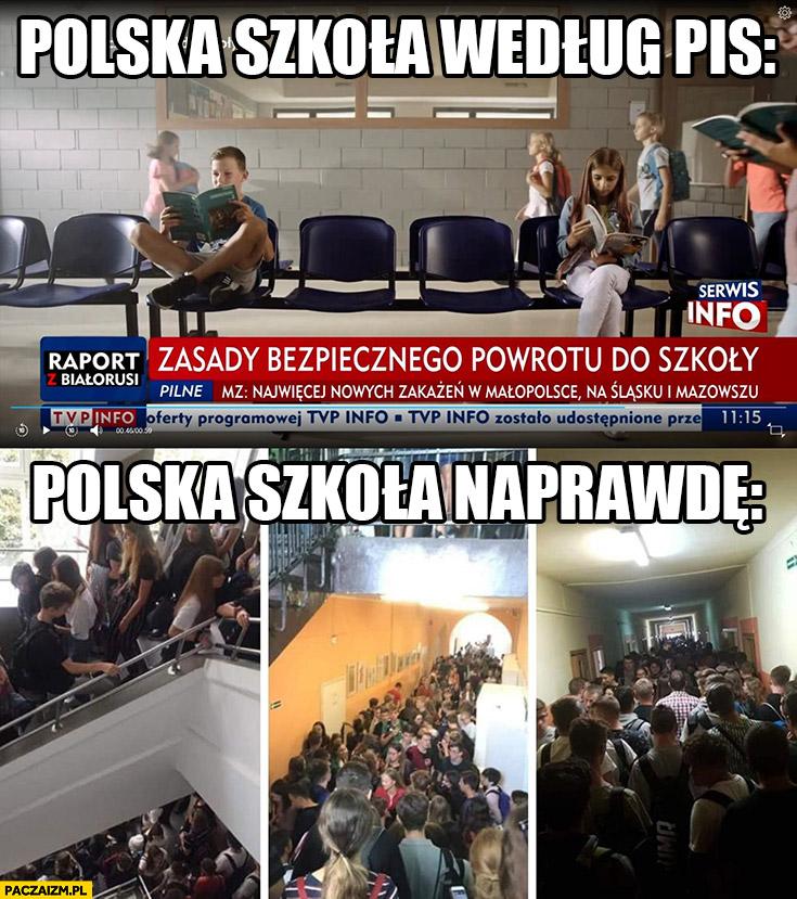 Tak wygląda polska szkolą według PiS vs polska szkołą naprawdę porównanie