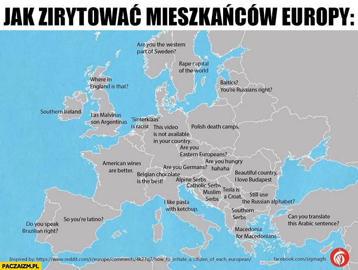 Jak zirytować mieszkańców państw europejskich jednym zdaniem