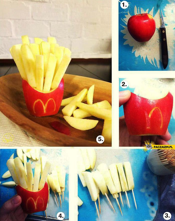 Jak zrobić frytki z jabłek