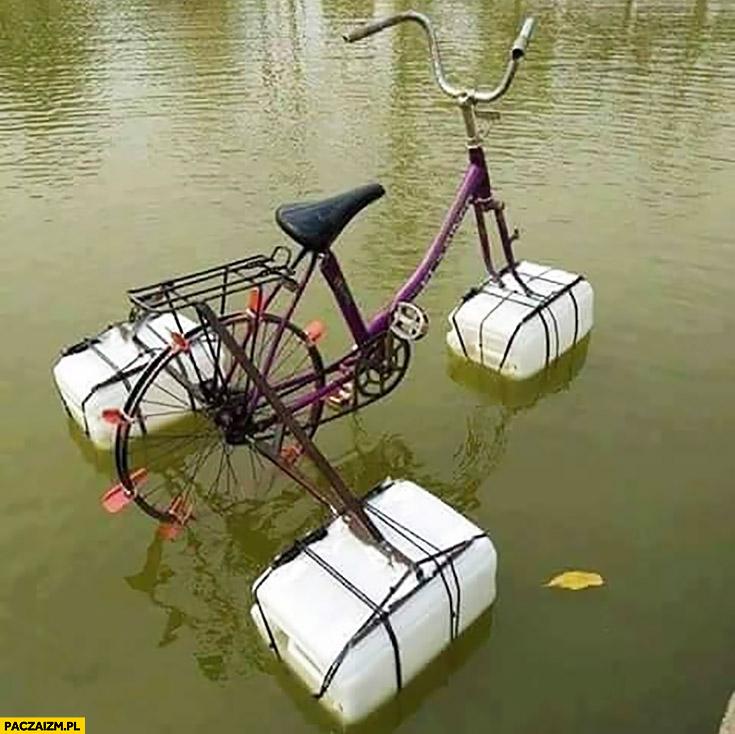 Jak zrobić rowerek wodny samemu ze zwykłego roweru