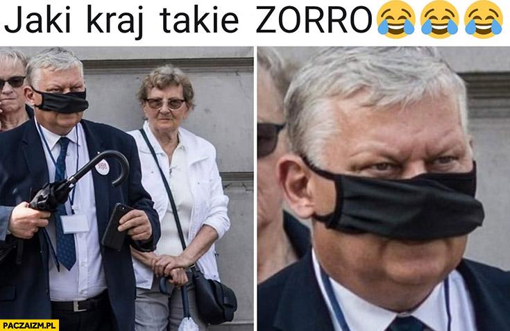 Jaki kraj takie Zorro Suski maseczka założona tylko na nos