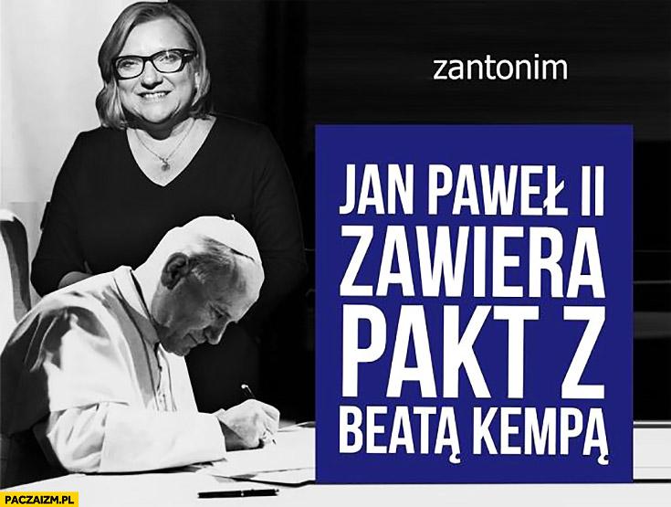 Jan Paweł II zawiera pakt z Beatą Kempą zdjęcie