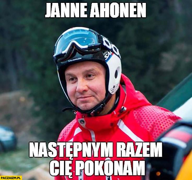 Janne Ahonen następnym razem Cię pokonam Duda skoczek narciarski