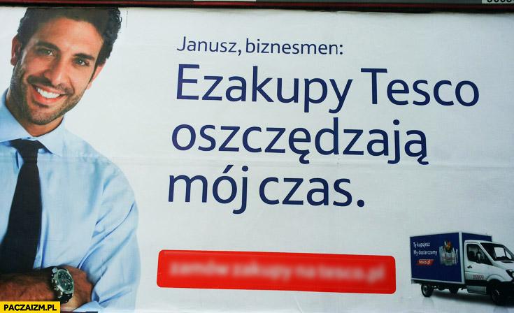 Janusz biznesmen ezakupy Tesco