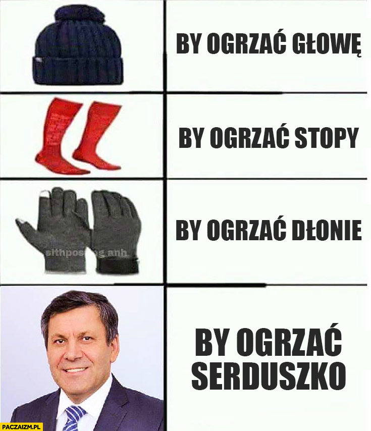 Janusz Piechociński by ogrzać głowę, stopy, dłonie by ogrzać serduszko