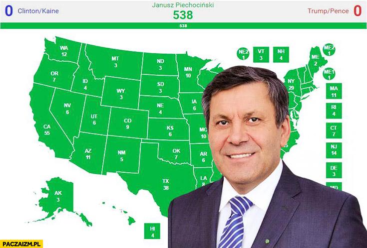 Janusz Piechociński wyniki wyborów w USA Stanach Zjednoczonych