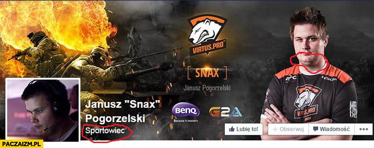 Janusz Snax Pogorzelski sportowiec podwójna broda