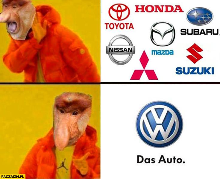 Japońskie auta nie, tylko Volkswagen. Typowy Polak nosacz Drake