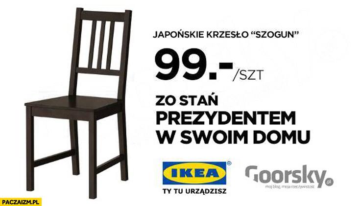 Japońskie krzesło Szogun zostań prezydentem w swoim domu Ikea