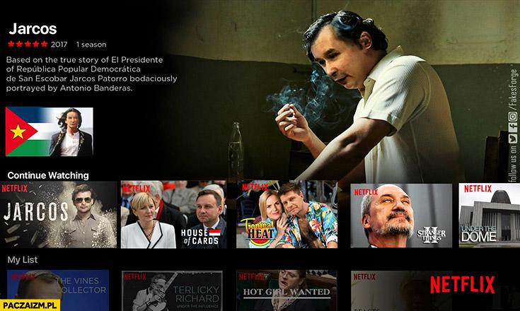 Jarcos serial Netflix Narcos San Escobar przeróbka