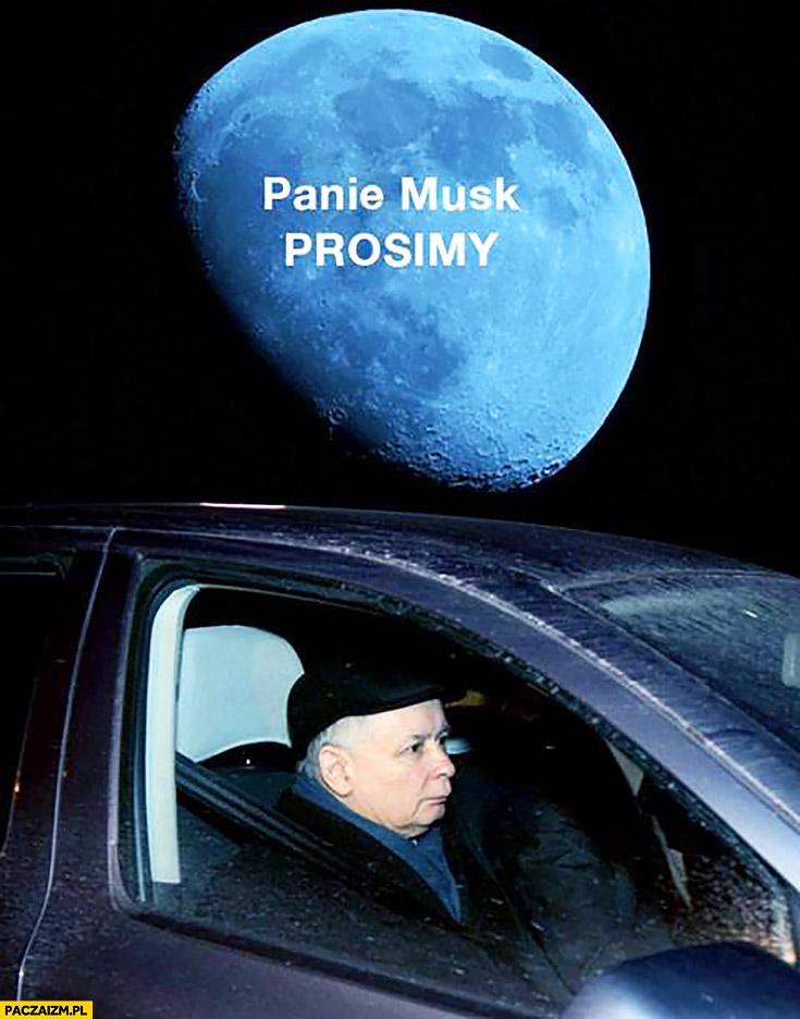 Jarosław Kaczyński lot w kosmos panie Musk prosimy