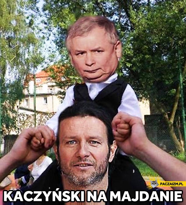 Jarosław Kaczyński na Majdanie