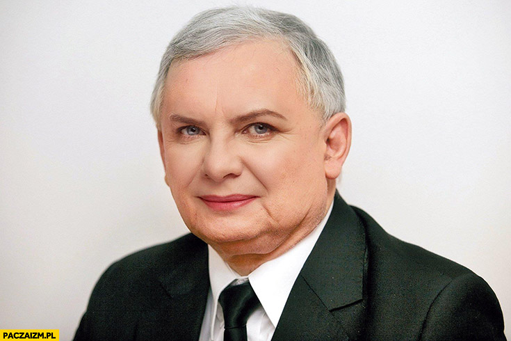 Jarosław Kaczyński z twarzą Beaty Szydło przeróbka face swap