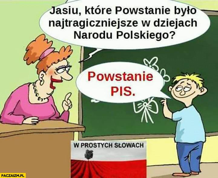 Jasiu które powstanie było najtragiczniejsze w dziejach narodu polskiego? Powstanie PiS Prawa i Sprawiedliwości