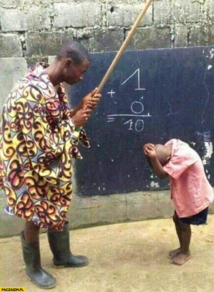 Jeden plus zero nauka dodawania w Afryce