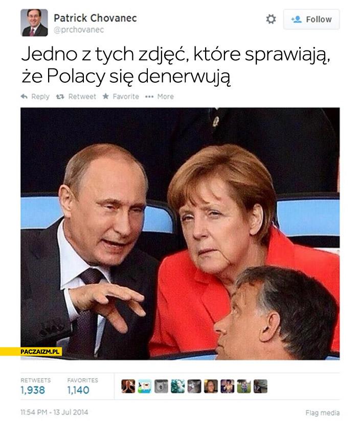 Jedno z tych zdjęć które sprawiają że Polacy się denerwuja Putin Merkel