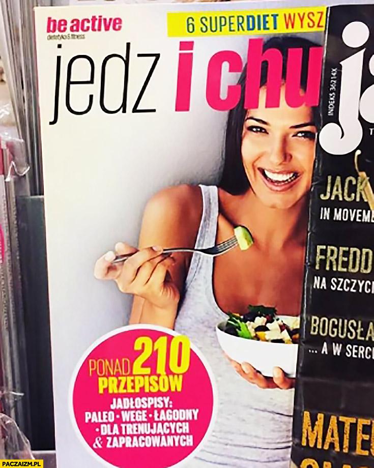 Jedz i chudnij j okładka gazety magazynu