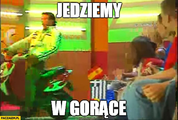 Jedziemy w gorące Conrado Moreno na skuterze w telewizji TVP wykop