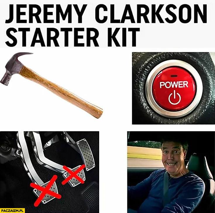 Jeremy Clarkson starter kit zestaw startowy