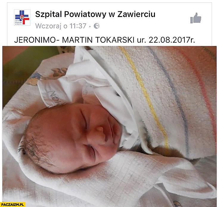 Jeronimo-Martin Tokarski imię dziecka biedronka