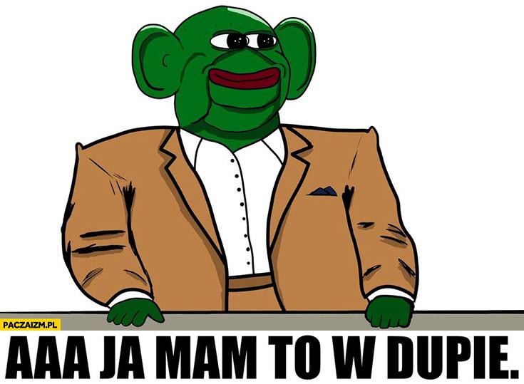 Jerzy Urban żaba Pepe a ja mam to w dupie