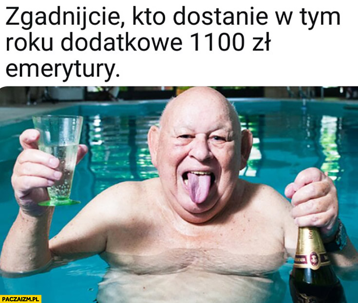 Jerzy Urban zgadnijcie kto dostanie w tym roku dodatkowe 1100 zł emerytury